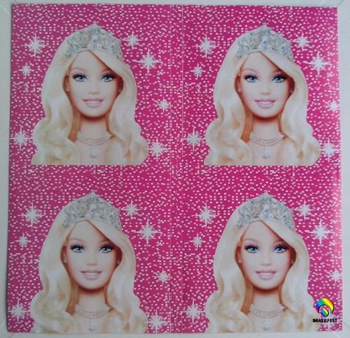 adesivo barbie life quadrado 7x7cm (20 unidades)