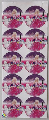 adesivo barbie moda e magia (30 adesivos)