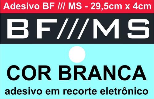 adesivo bf /// ms - camionete - 29,5cm x 4cm