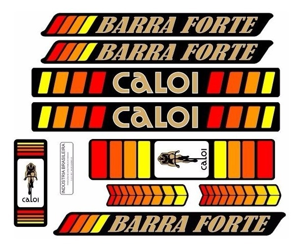 Adesivo Bicicleta Antiga Caloi Barra Forte 1979 R 43 90 Em