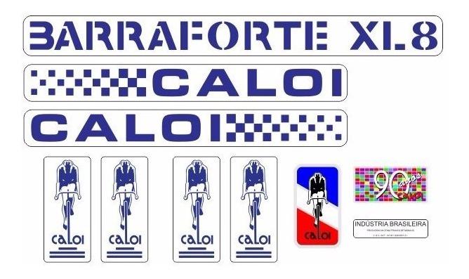 Adesivo Bicicleta Antiga Caloi Barra Forte Xl8 Azul R 39 90 Em