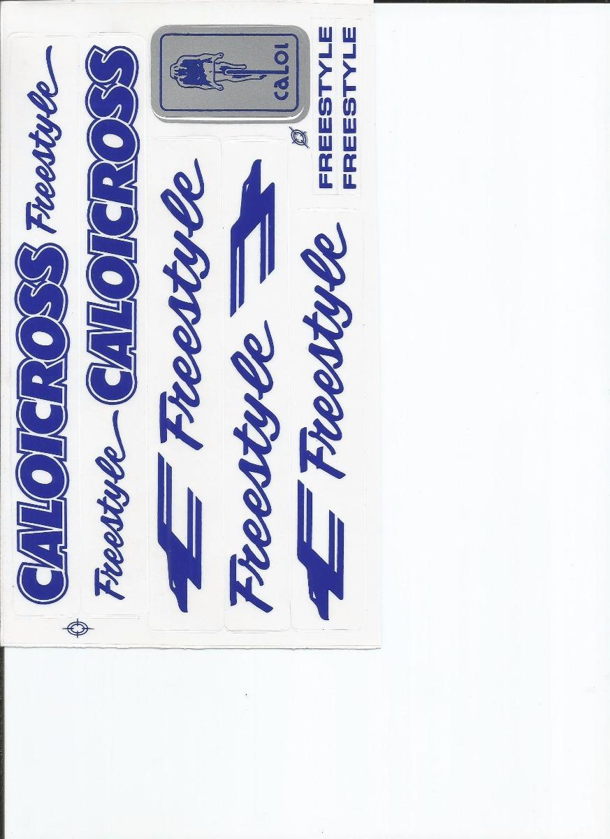 Adesivo De Parede Feminino ~ Adesivo Bicicleta Antiga Caloi Cross Freestyle Azul R$ 15,90 em Mercado Livre
