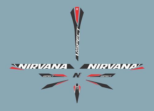 adesivo bike scott - nirvana