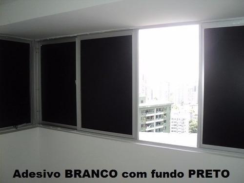 adesivo blackout janela porta vidro bloqueia luz 1m x 50cm