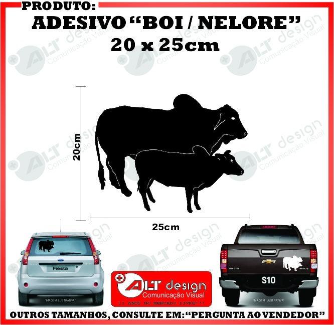 Adesivo Boi   Nelore - 20 X 25cm (peão Rodeio) (bom7) - R  15 a8487f8f734