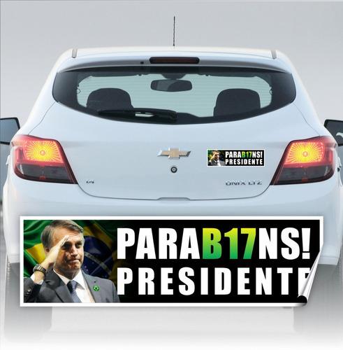 adesivo bolsonaro presidente 2018 carro kit 50 peças 25x8cm