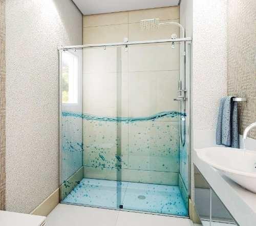adesivo box de banheiro 2 folhas porta de vidro frete grátis