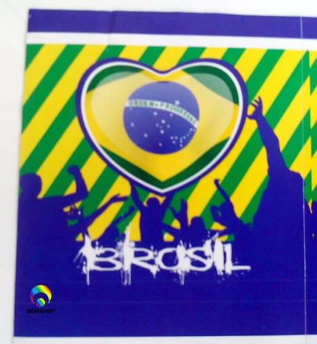 adesivo brasil  quadrado 7x7cm (20 unidades)