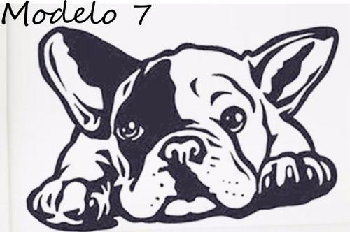 adesivo bulldog frances filhote (tamanho 40x20cm) em vinil