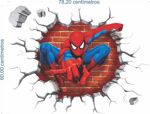 adesivo buraco falso homem aranha - 78,20x60cm + brinde