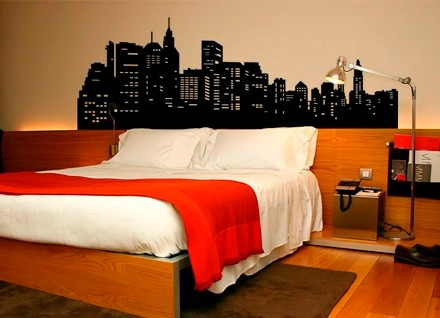 adesivo cabeceira de cama big apple (new york) 200x71 cm