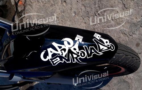 adesivo cabo enrolado frete grátis 10cmx22cm motos carro
