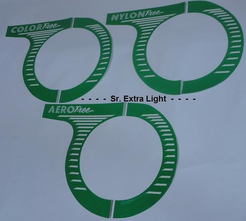 adesivo caloi cross aero free light - padrão sr. extra light