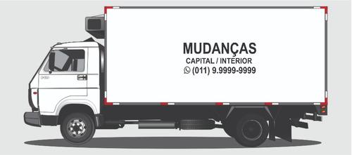 adesivo caminhão van vuc utilitário para bau mudanças
