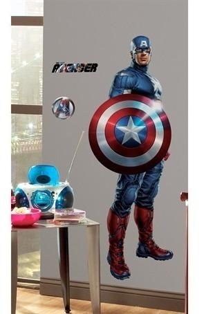 adesivo capitão américa (vingadores) - york roommates