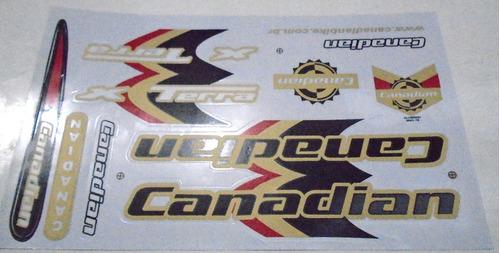 adesivo cartela  canadian terra preto / dourado .