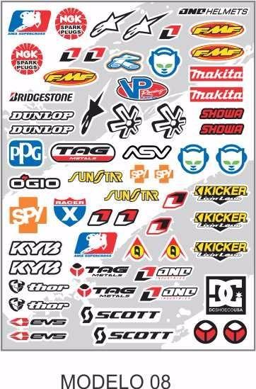 Adesivo Cartela Moto Gp Carro Promoção Compre 2 Leve 3 - R  25 08f7c7b3a0a47
