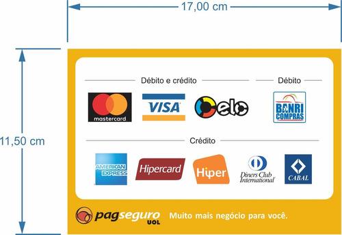 adesivo cartão de débito moderninha plus