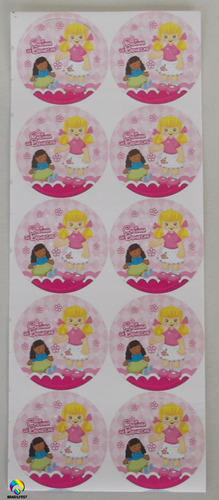 adesivo casinha de bonecas (30 adesivos)