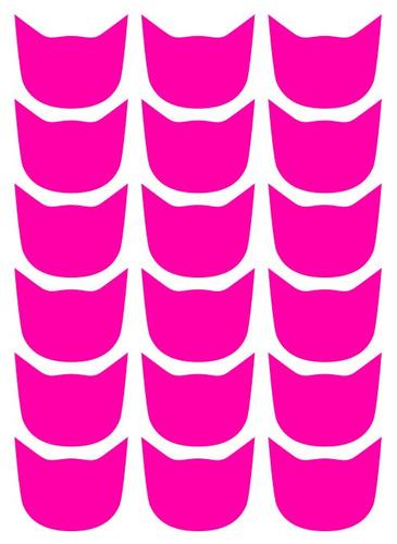 adesivo cat face adesivos coloridos ade - branco