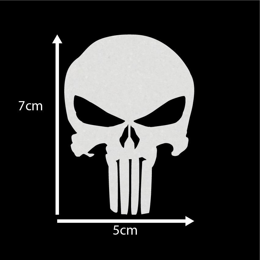 Adesivo De Chao Madeira ~ Adesivo Caveira Justiceiro Punisher Skull 7x5cm Refletivo R$ 5,00 em Mercado Livre