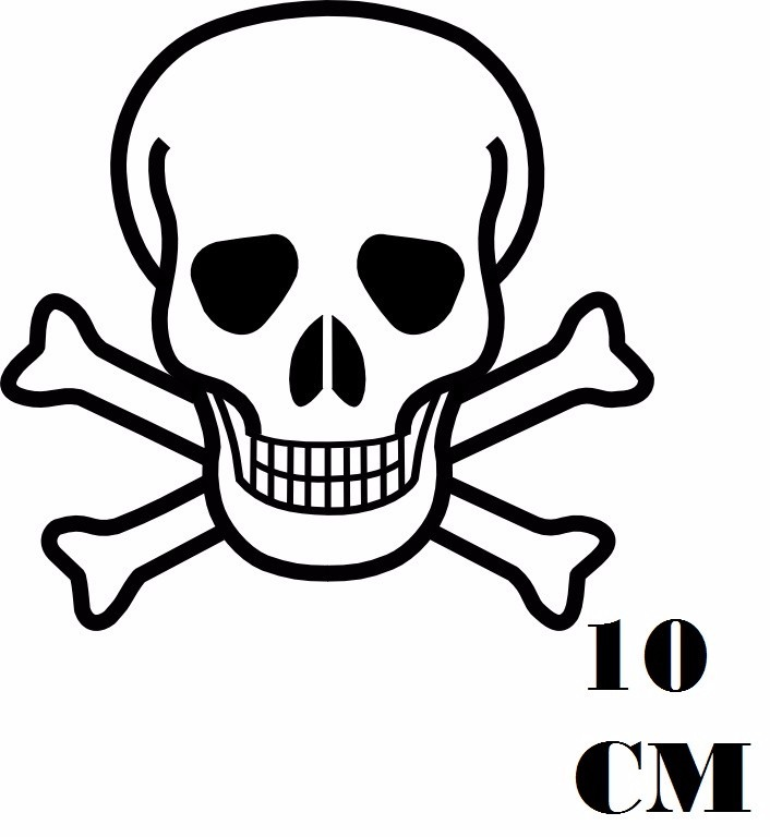 Aparador De Cocina Leroy Merlin ~ Adesivo Caveira Perigo Classica Pirata Com Frete Grátis R$ 11,99 em Mercado Livre