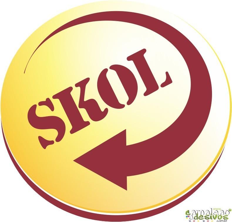 Adesivo Cerveja Skol Logo Recorte # 09 (40 Cm Na Parte Maior R$ 25,90 em Mercado Livre