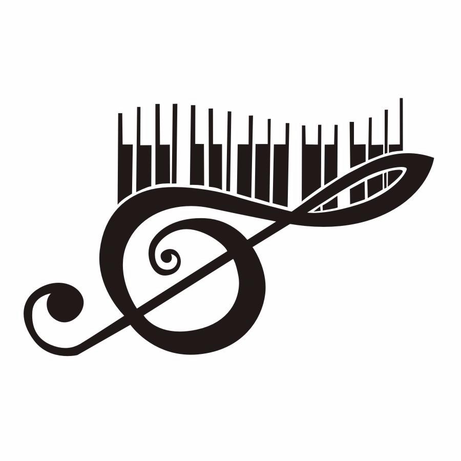 Adesivo Clave De Sol E Teclas Piano Decorativo Cod76 R 3300 Em