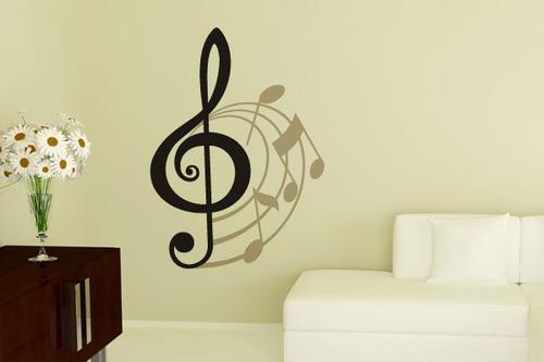 adesivo clave musical - mudo minha casa