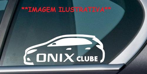 adesivo clube chevrolet novo onix 2017 cód: coni-2