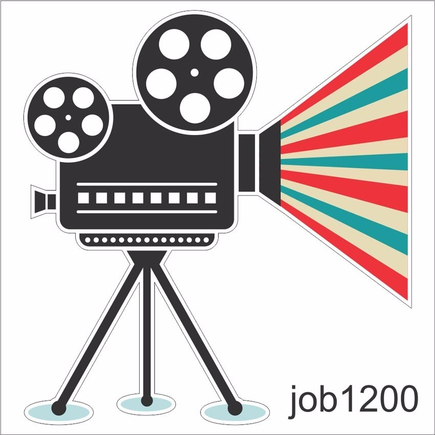 Armarios Fernando Mooca ~ Adesivo C u00e2mera Filmadora Cinema Vintage Retro Job1200 R$ 64,99 em Mercado Livre