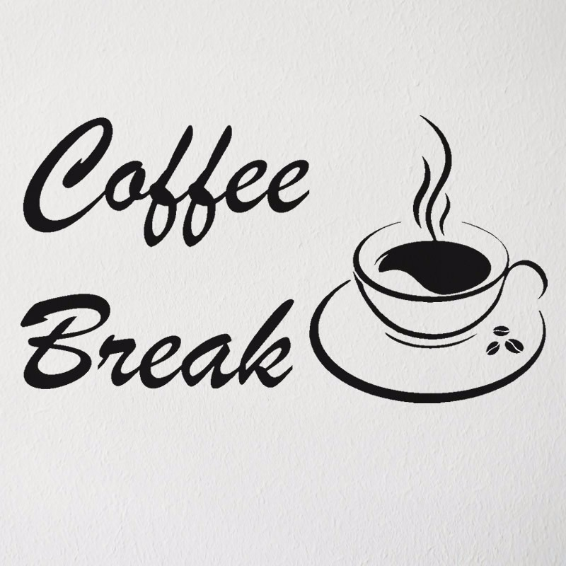 adesivo coffee break caf cafeteria cozinha r 14 45 em mercado livre. Black Bedroom Furniture Sets. Home Design Ideas