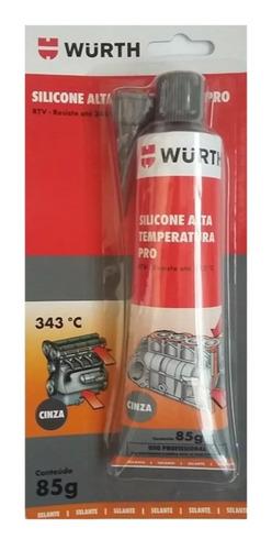 adesivo cola silicone alta temperatura pro cinza wurth 343ºc