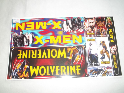 adesivo colante bike infantil x-men - wolverine