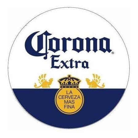 Adesivo Corona Logo Cerveja Bebida Carro 70cm Kit 5pcs R 129 90