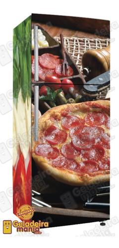 adesivo cozinha envelopamento geladeira pz126 pizza italia