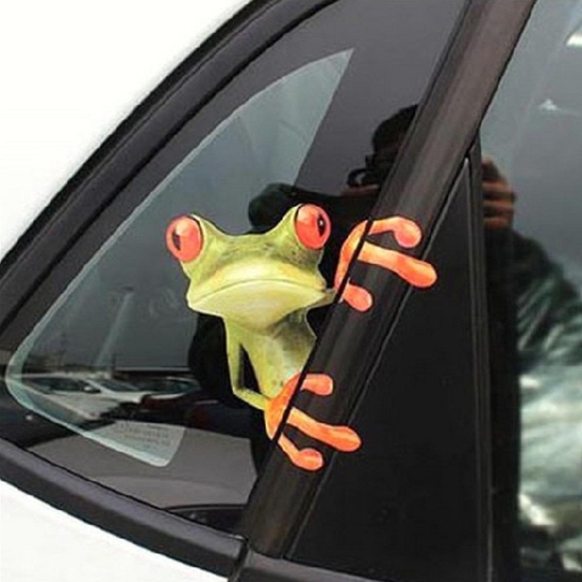 Car sticker flower design - Adesivo Criativo 3d Sapinho De Carona Em Seu Carro R 9 90 Em