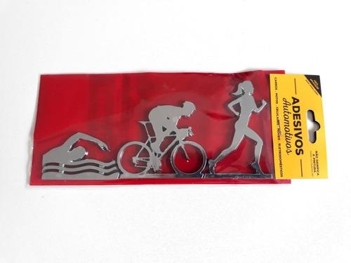 adesivo cromarca triathlon feminino cromado