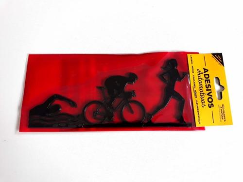 adesivo cromarca triathlon feminino preto