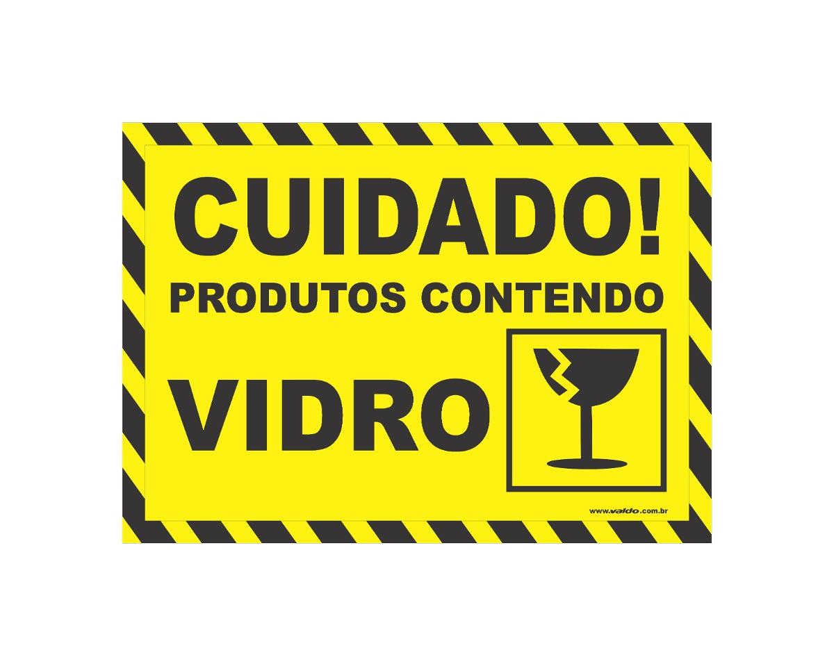 adesivo cuidado prod vidro caixa transporte h kit 200 peça r 90
