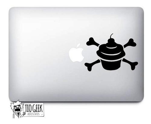 adesivo cupcake bones skull - macbook ipad laptop tablet