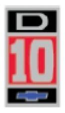adesivo d10 pick up com gravata azul- d10 chevrolet- gm