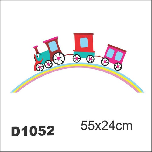 adesivo d1052 trem arco iris trenzinho decorativo criança