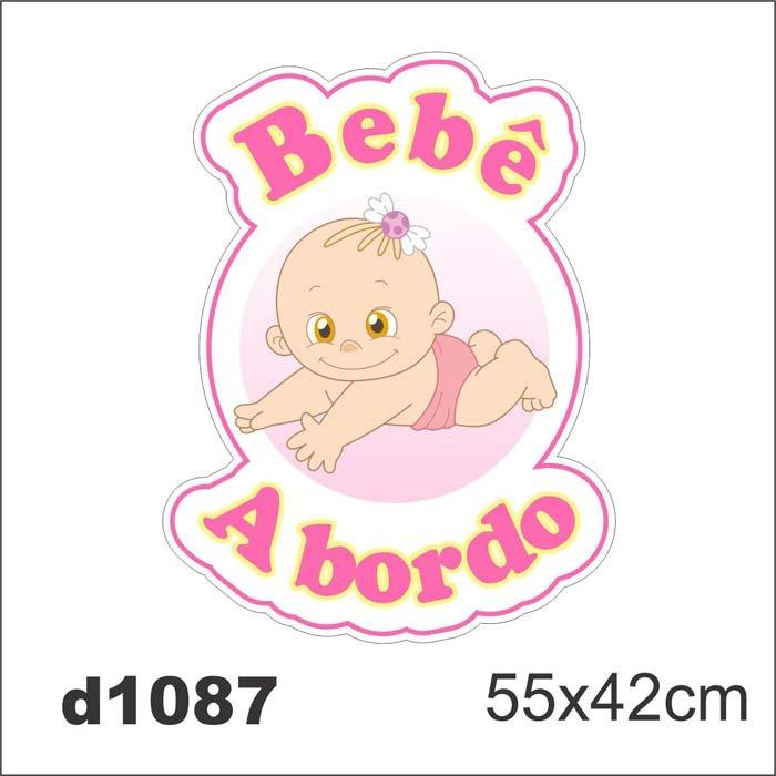 Adesivo d1087 bebe a bordo feminino para carro decorativo for Bordo adesivo decorativo