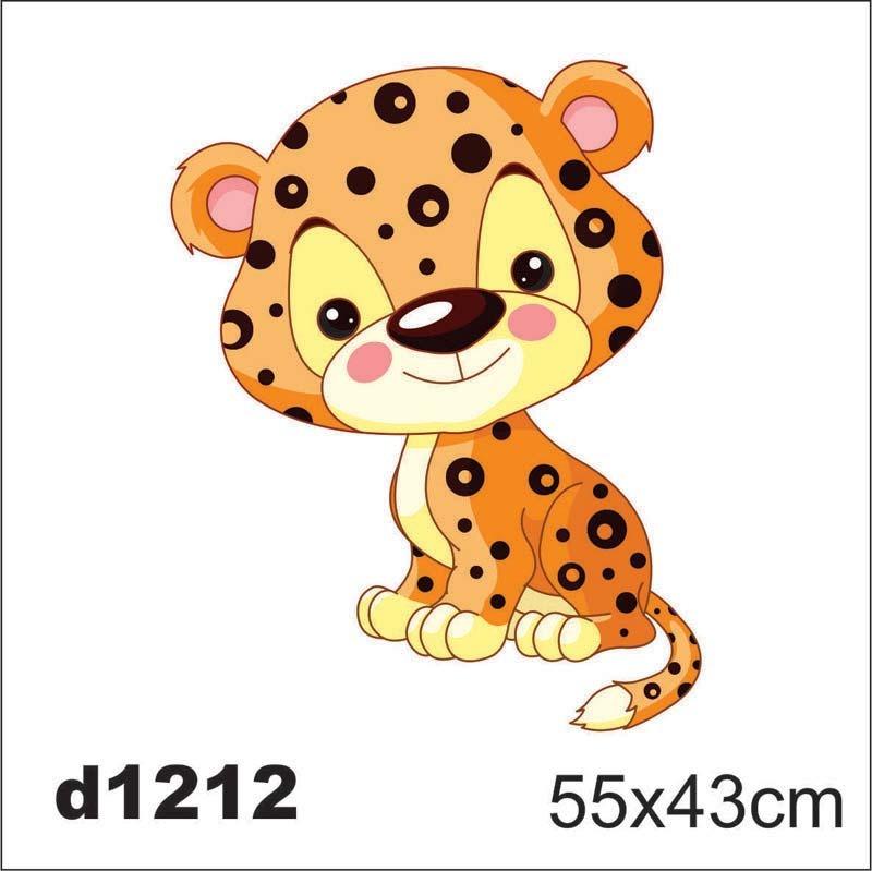 Aparador Acrilico Transparente ~ Adesivo D1212 Onça Pintada Oncinha Kid Infantil Decorativo