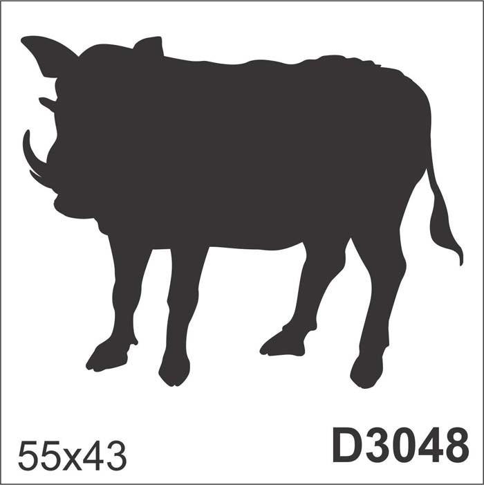 adesivo d3048 desenho abstrato javali porco de parede r 87 26 em