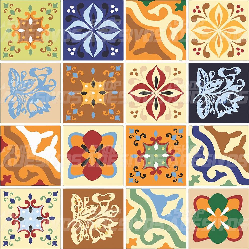Armario Sala ~ Adesivo De Azulejo De Cozinha Antigo 15x15cm 3 Kits R$ 110,70 em Mercado Livre