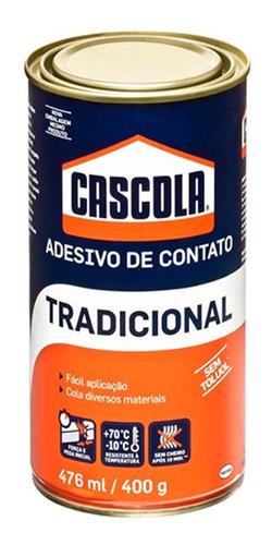 adesivo de contato 400g/476ml tradicional s/ toluol cascola