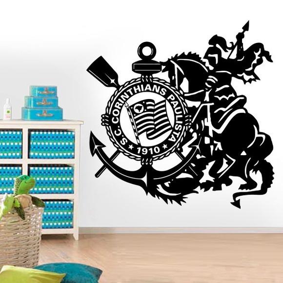 Adesivo De Escudo Do Timão Com São Jorge-es 150x150cm - R  170 87380cf5fd9c0