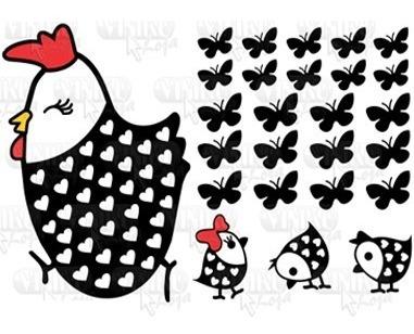 adesivo de geladeira - cozinha - decorativo galinha pintinho